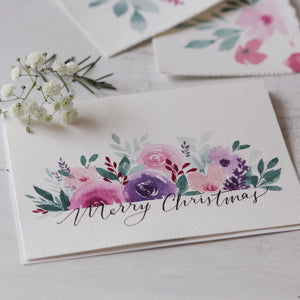 Watercolour Florals/Holiday Card