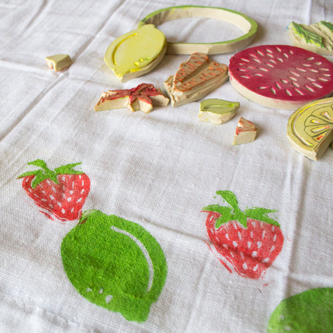 Printmaking: Print Your Own Tea Towels