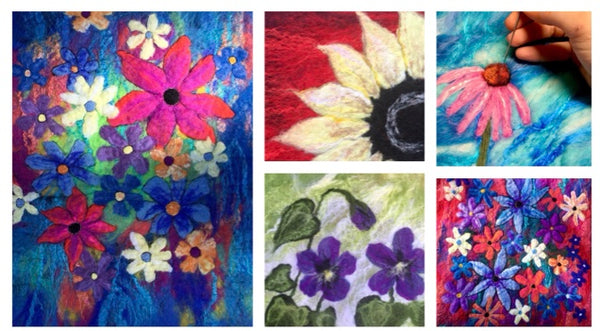 Felted Wool Landscape or Florals with Tuckamoor Wildcrafts - Full Day Workshop