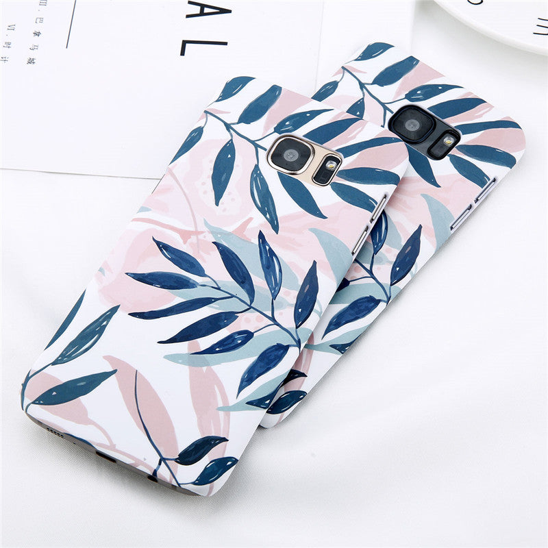 Leaf Pattern Phone Case For Samsung Galaxy
