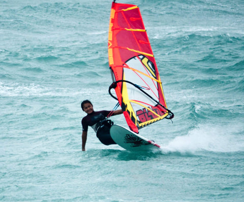 windsurfer in wave