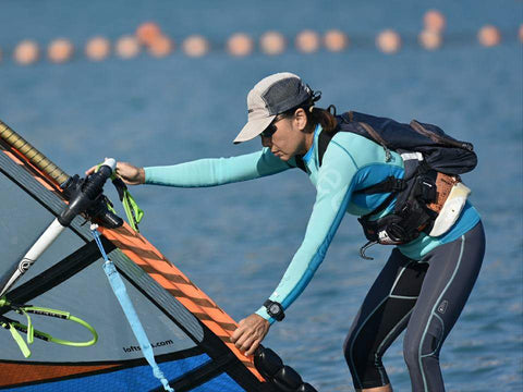 windsurfer woman