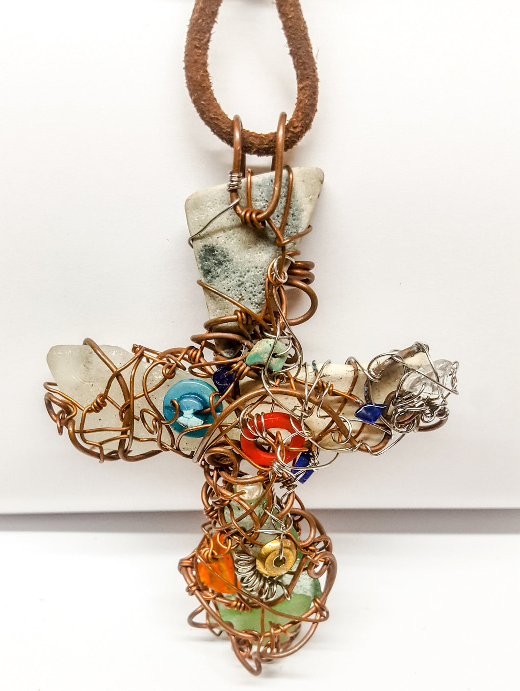 Cross handmade necklace - Curvo