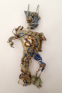 Dancing robot handmade necklace - Curvo