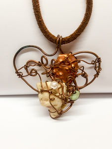 """Amor"" (love) handmade necklace - Curvo"