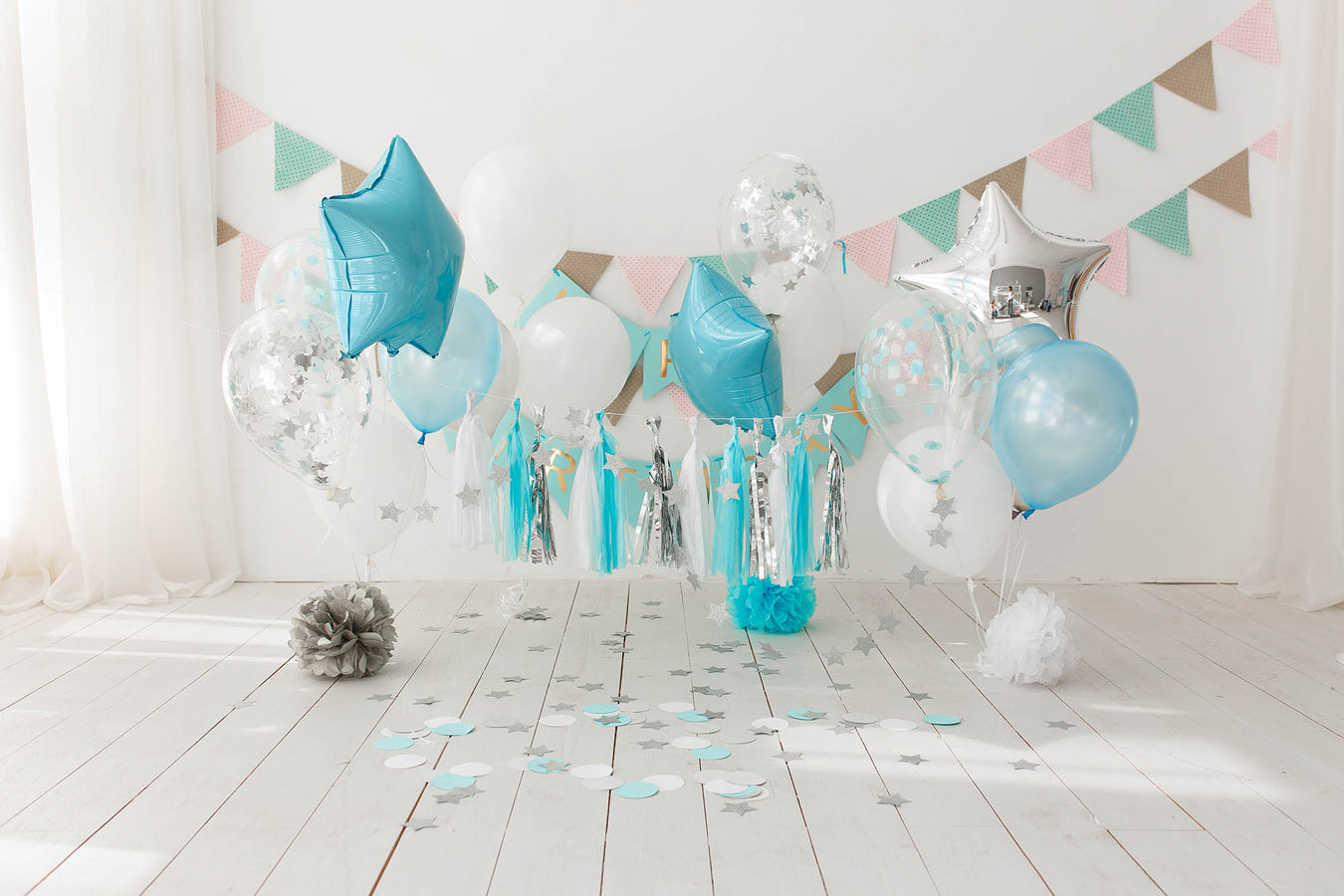 balloon arch and garland kit wall party supplies shimmer and confetti hand pump