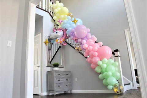 pastel garland DIY balloon garland