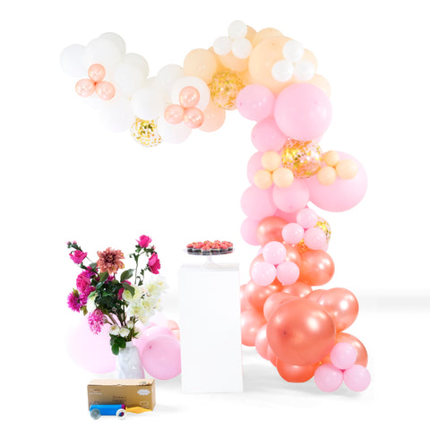 how to hang balloon garland attach to wall backdrop diy arch shimmer & confetti
