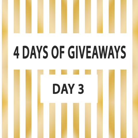 day 3 of shimmer and confetti giveaway