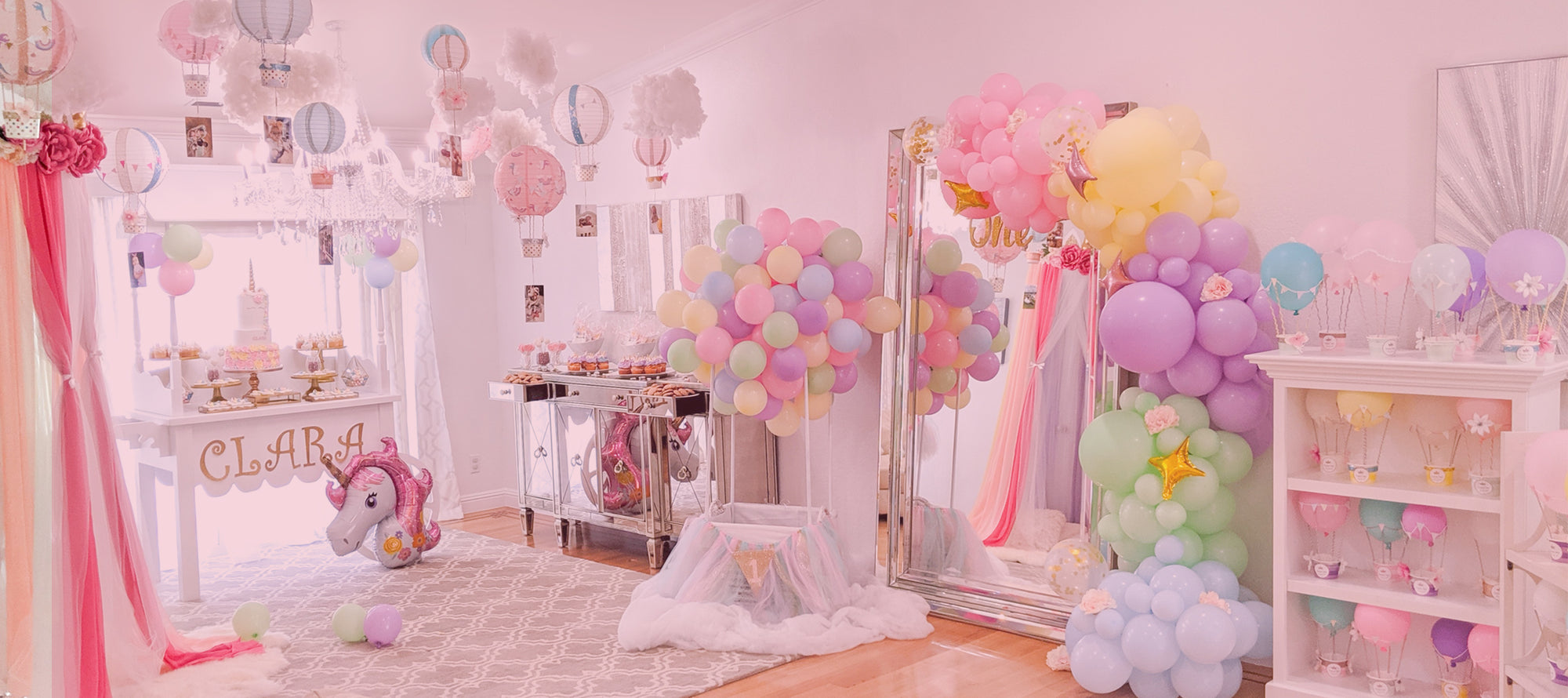 pastel balloon arch and garland kit