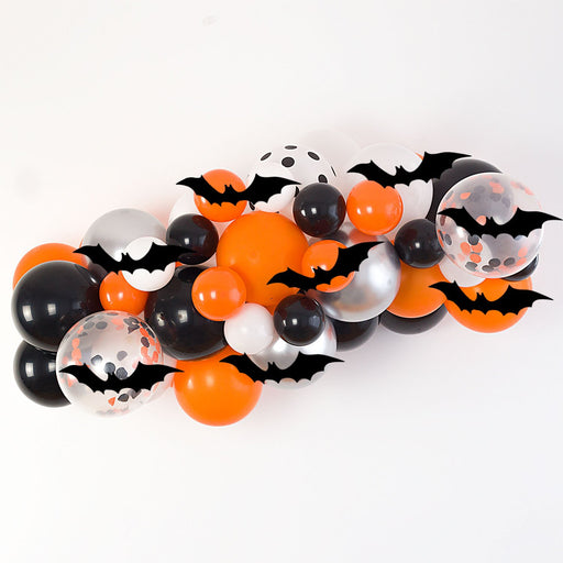 Halloween Balloon Arch and Garland Kit (5, 10, 16 foot) with 3D Bats