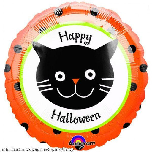 "18"" Halloween Cat with Dots"