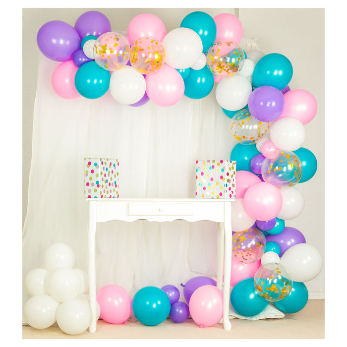 10ft Unicorn Balloon Arch and Garland Kit - Shimmer & Confetti