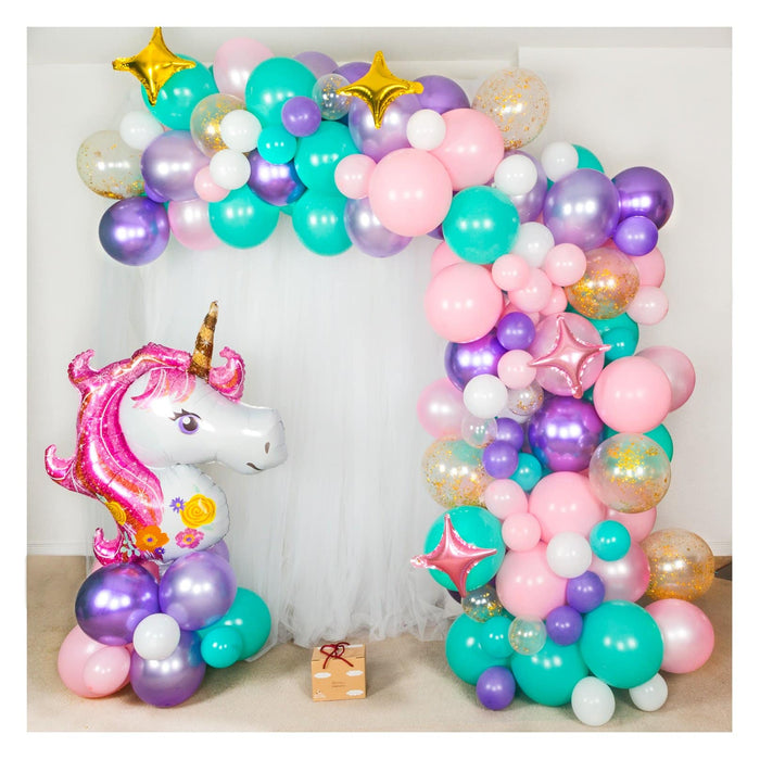 Unicorn Rainbow Balloon Arch and Garland Kit