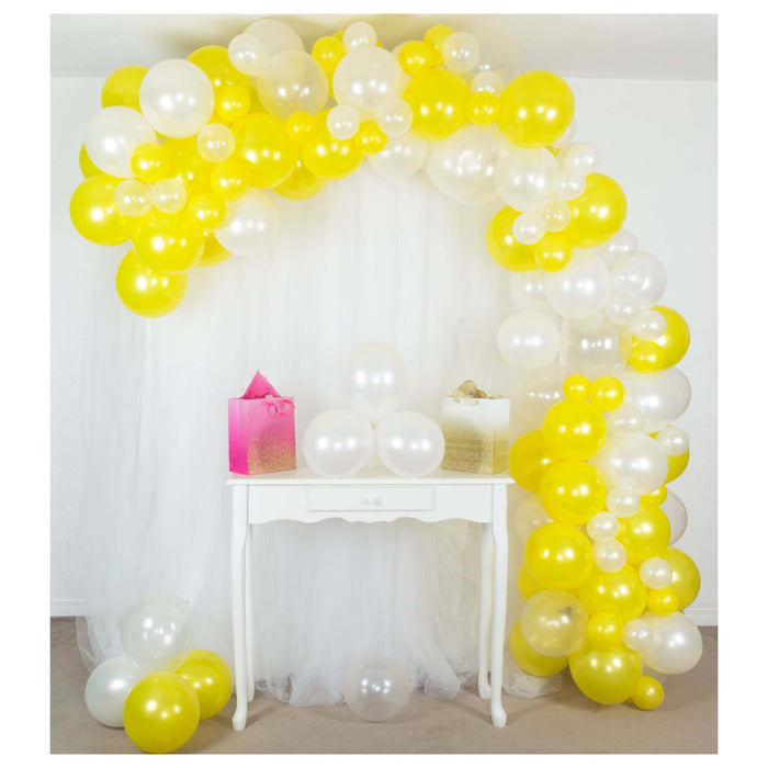 16ft Popcorn Balloon Arch and Garland Kit balloon arch and garland shimmer and confetti balloons unicorn baby shower bridal shower party supplies birthday decoration first
