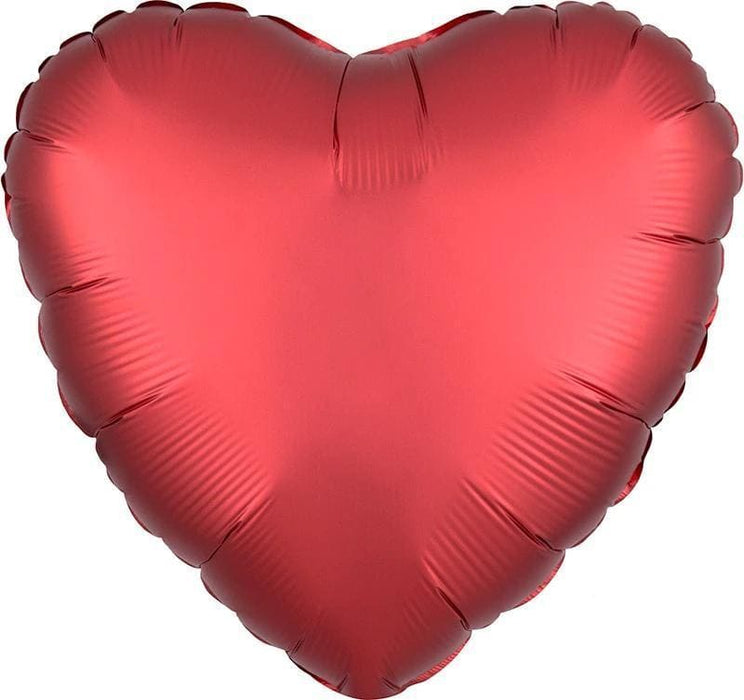 18-inch Satin Red Heart-Shaped Foil Balloon balloon arch and garland shimmer and confetti balloons unicorn baby shower bridal shower party supplies birthday decoration first