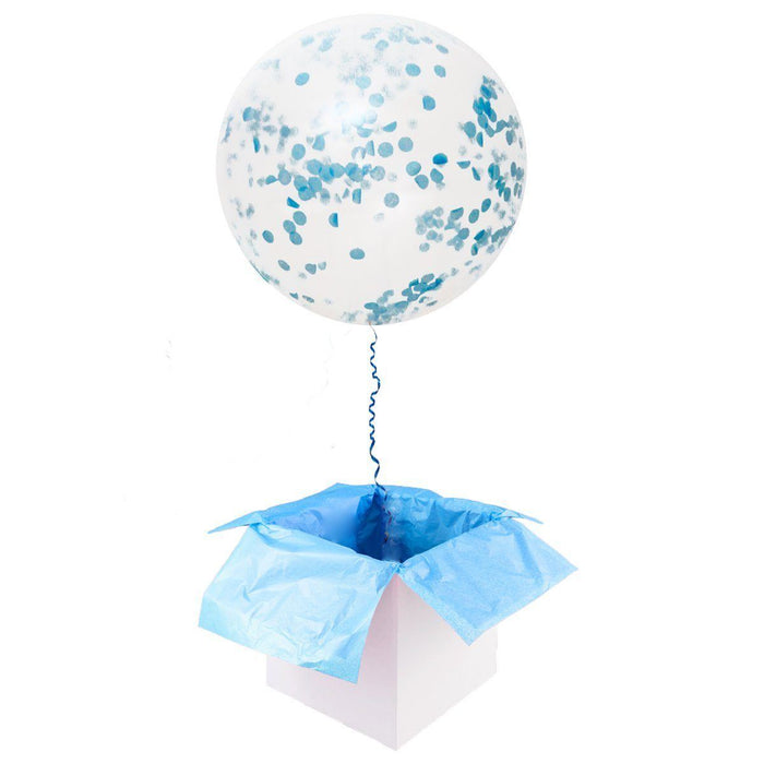36-inch Giant Blue Confetti Balloons 15ct balloon arch and garland shimmer and confetti balloons unicorn baby shower bridal shower party supplies birthday decoration first