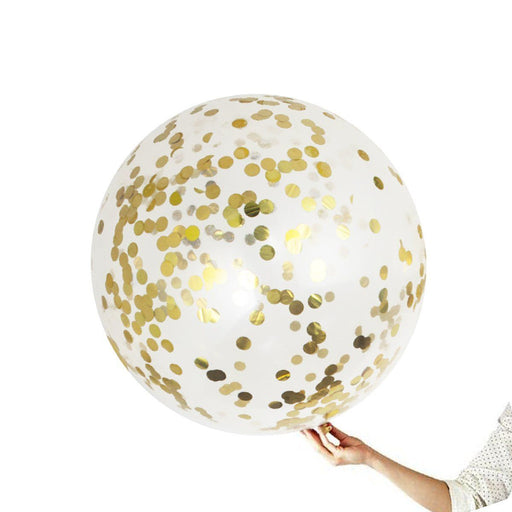 36-inch Giant Gold Confetti Balloons 15ct - Shimmer & Confetti
