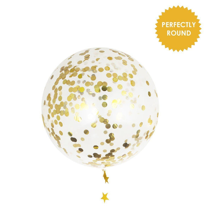 36-inch Giant Gold Confetti Balloons - Shimmer & Confetti