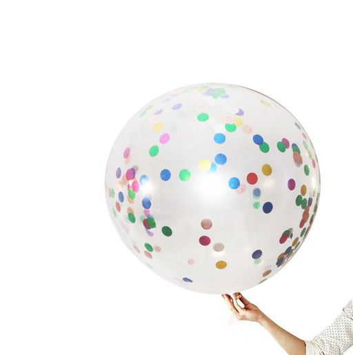 36-inch Giant Multicolor Confetti Balloons 8ct balloon arch and garland shimmer and confetti balloons unicorn baby shower bridal shower party supplies birthday decoration first