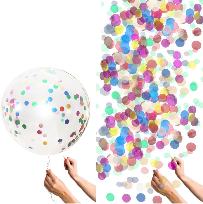 36-inch Giant Multicolor Confetti Balloons balloon arch and garland shimmer and confetti balloons unicorn baby shower bridal shower party supplies birthday decoration first