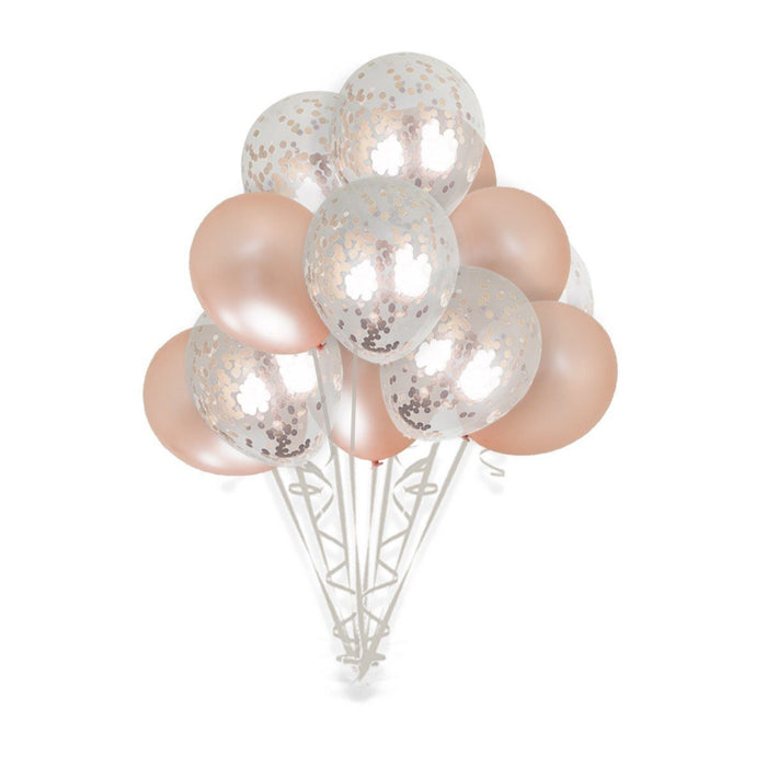 36-inch Giant Rose Gold Confetti Balloons 15ct balloon arch and garland shimmer and confetti balloons unicorn baby shower bridal shower party supplies birthday decoration first