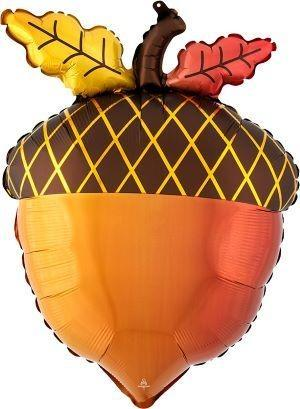 "18"" Satin Infused Fall Acorn Foil Balloon"