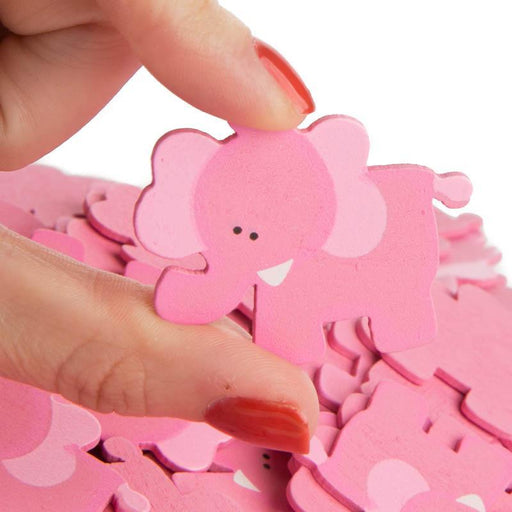 Baby Shower Wooden Clothes Peg - Elephant 6ct - Shimmer & Confetti