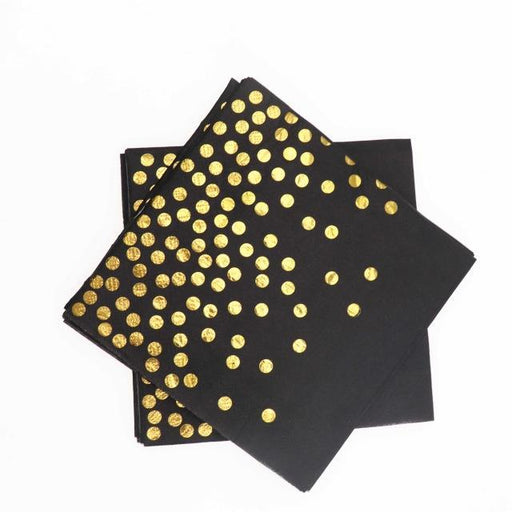 Black and Gold Polka Dot Tableware Set balloon arch and garland shimmer and confetti balloons unicorn baby shower bridal shower party supplies birthday decoration first
