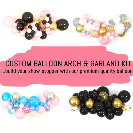 Custom DIY Balloon Garland and Arch Kit (3 Balloon Sizes - 5, 11 and 18-inch) balloon arch and garland shimmer and confetti balloons unicorn baby shower bridal shower party supplies birthday decoration first