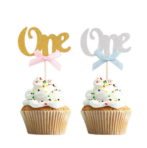 First Birthday Cupcake Toppers 24ct balloon arch and garland shimmer and confetti balloons unicorn baby shower bridal shower party supplies birthday decoration first