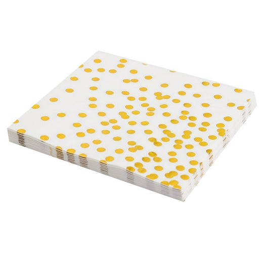 Gold Polka Dot Disposable Paper Towels 12ct - Shimmer & Confetti