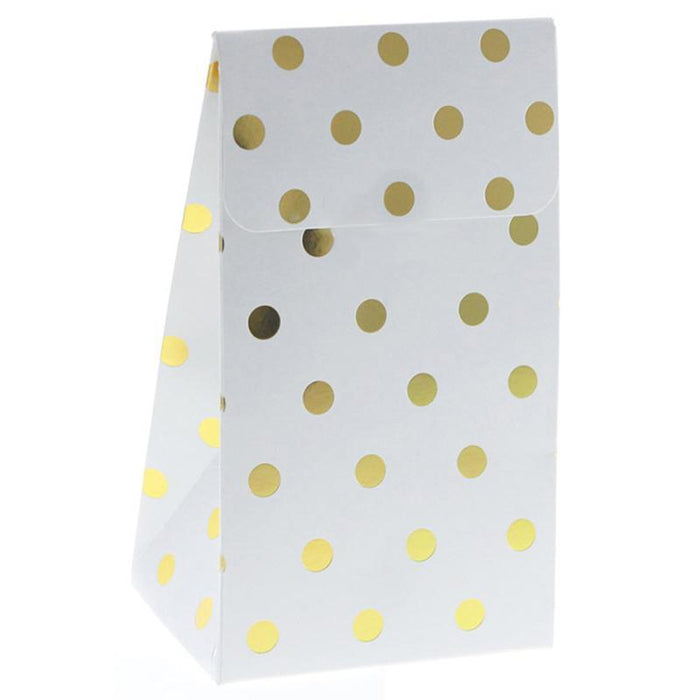 Gold Polka Dot Party Bags 12ct balloon arch and garland shimmer and confetti balloons unicorn baby shower bridal shower party supplies birthday decoration first