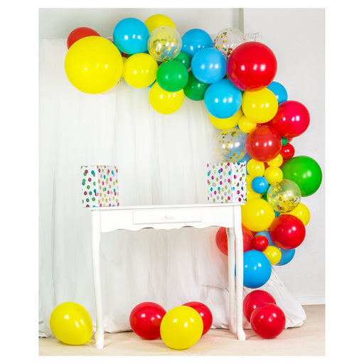 16ft White, Gray, Silver and Gold Balloon Arch and Garland Kit