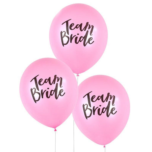 "Pink and White ""Team Bride"" Balloons balloon arch and garland shimmer and confetti balloons unicorn baby shower bridal shower party supplies birthday decoration first"