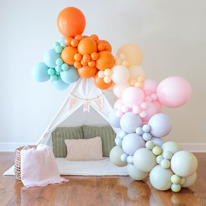 fall balloon garland by shimmer and confetti