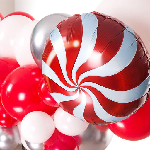 Red, White and Gold Balloon Arch and Garland Kit (5, 10, 16 foot) - Shimmer & Confetti