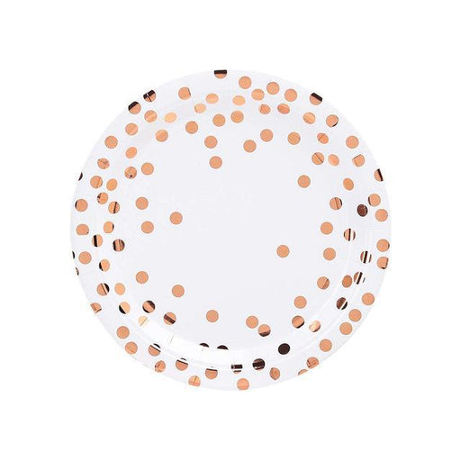 Rose Gold Polka Dot Tableware Set balloon arch and garland shimmer and confetti balloons unicorn baby shower bridal shower party supplies birthday decoration first