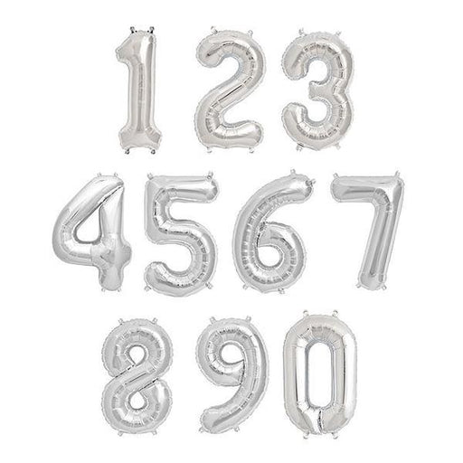 Silver Foil Number Balloon balloon arch and garland shimmer and confetti balloons unicorn baby shower bridal shower party supplies birthday decoration first