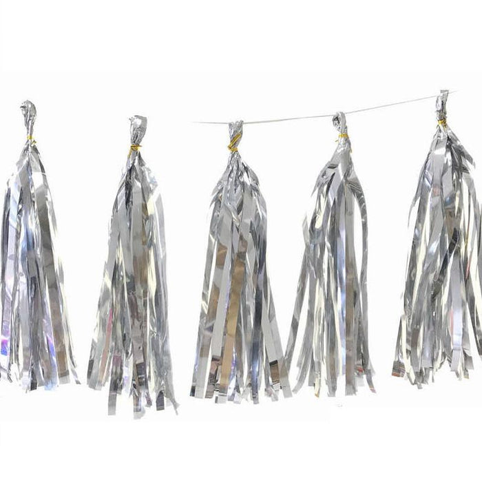 Silver Party Tassels balloon arch and garland shimmer and confetti balloons unicorn baby shower bridal shower party supplies birthday decoration first