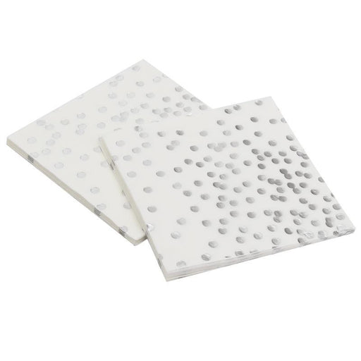 Silver Polka Dot Disposable Paper Towels 12ct - Shimmer & Confetti