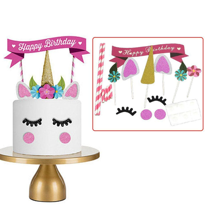 Unicorn Party Cake Decorating Set balloon arch and garland shimmer and confetti balloons unicorn baby shower bridal shower party supplies birthday decoration first