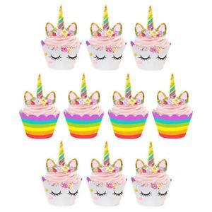 Unicorn Party Cupcake Decorating Set 24ct balloon arch and garland shimmer and confetti balloons unicorn baby shower bridal shower party supplies birthday decoration first