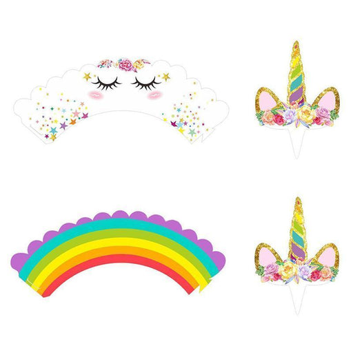 Unicorn Party Cupcake Decorating Set 24ct - Shimmer & Confetti