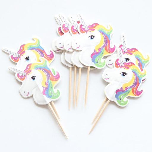 Unicorn Party Cupcake Toppers 24ct balloon arch and garland shimmer and confetti balloons unicorn baby shower bridal shower party supplies birthday decoration first