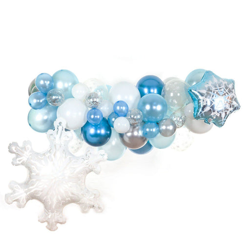 Winter Onederland Balloon Arch and Garland Kit (5, 10, 16 foot) - Shimmer & Confetti