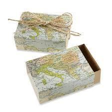 World Map Favor Boxes 25ct - Shimmer & Confetti