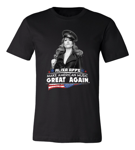 MAKE AMERICAN MUSIC GREAT AGAIN BLACK TEE
