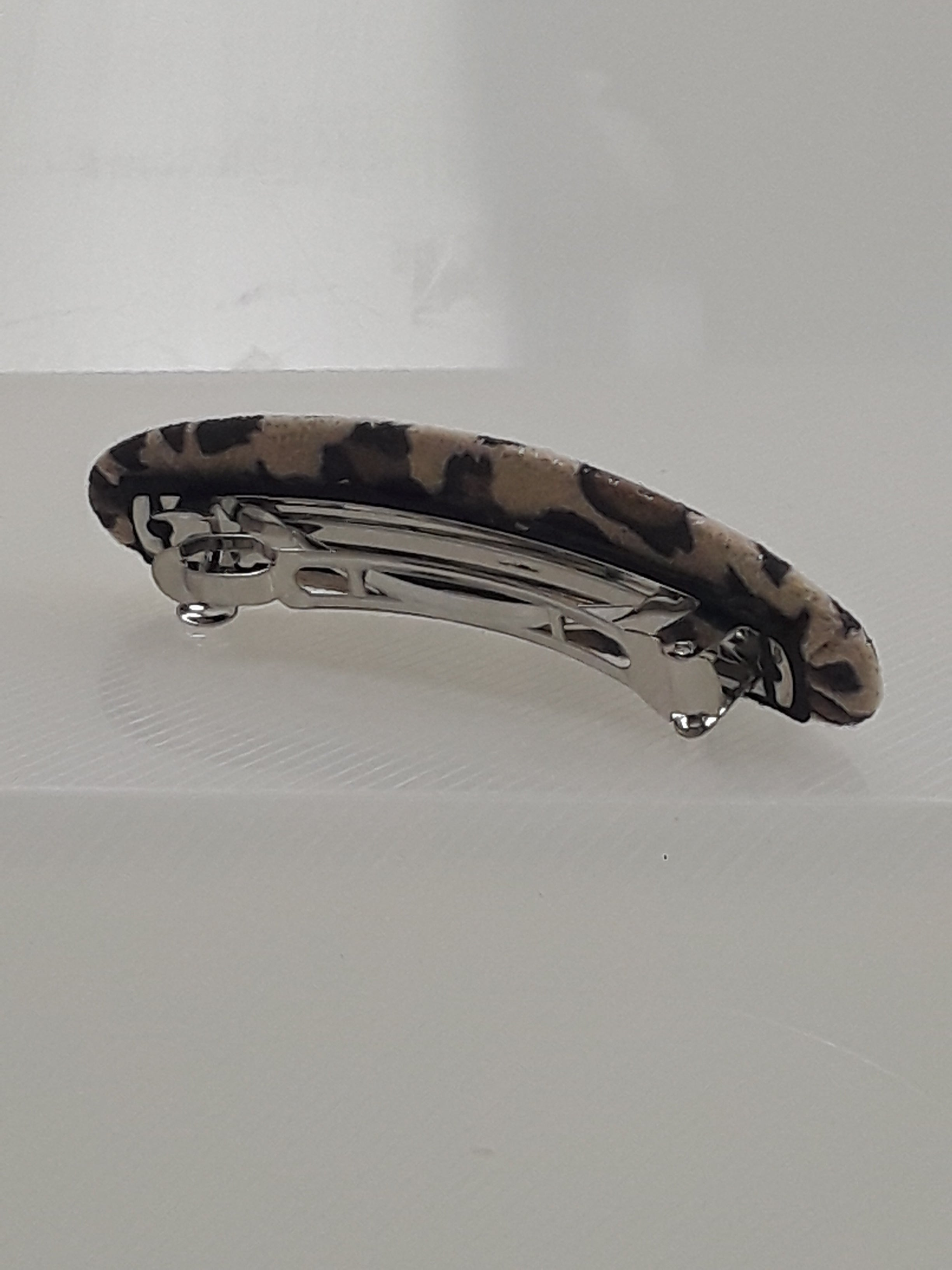 Light Brown Cheetah Print Barrette