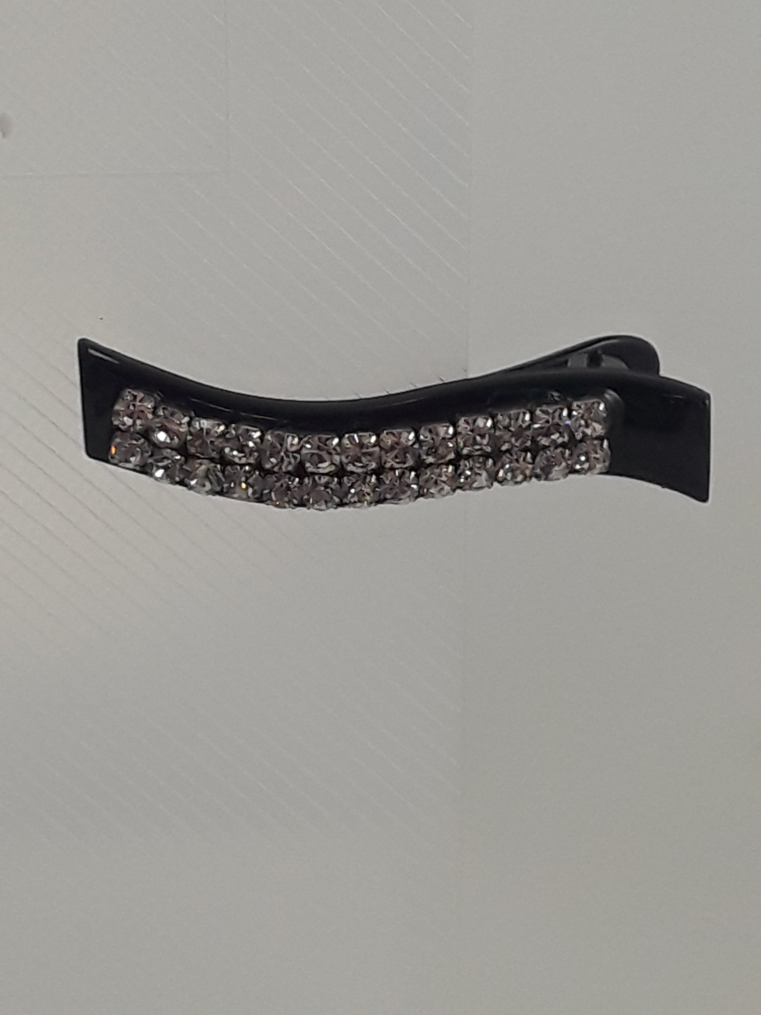 Hair Clip with Double Row of Silver Studs